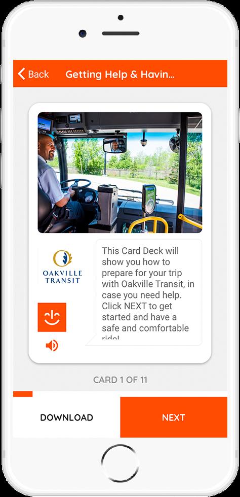 Oakville Transit - Getting Help & Having a Safe Ride Card 1