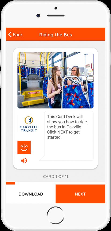 Oakville Transit - Riding the Bus Card 1